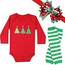 1d0099c7511e3 juDanzy Halloween & Christmas Baby Gift Box outfit set (3-6 Months, Holly  Christmas)