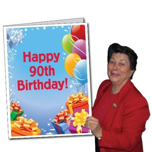 3 Stock Design Giant 90th Birthday Greeting Card W Envelope Presents And Balloons 12607 In 2021 90th Birthday Cards 80th Birthday Cards 100th Birthday Card