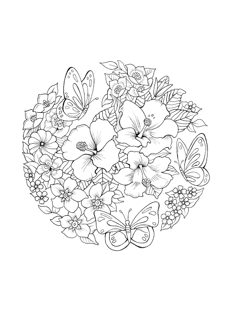 Adult Coloring Book Creations Sample Printables From Butterfly