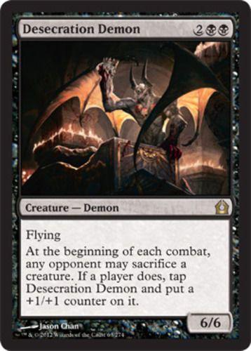 desecration demon magic the gathering rare card black