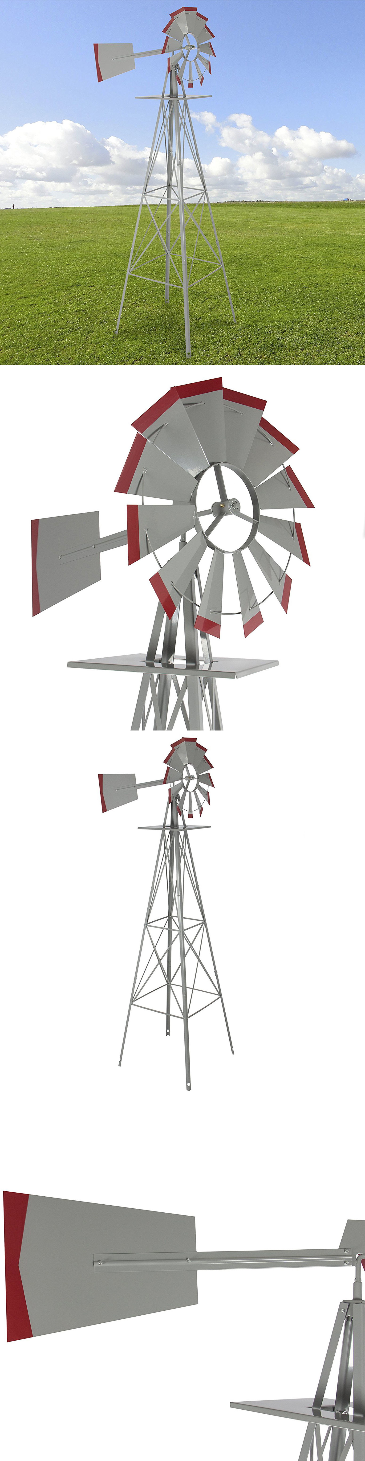 Windmills And Wind Spinners 115772: Windmill 8 Ornamental Garden Weather  Vane Weather Resistant Wind Spinner