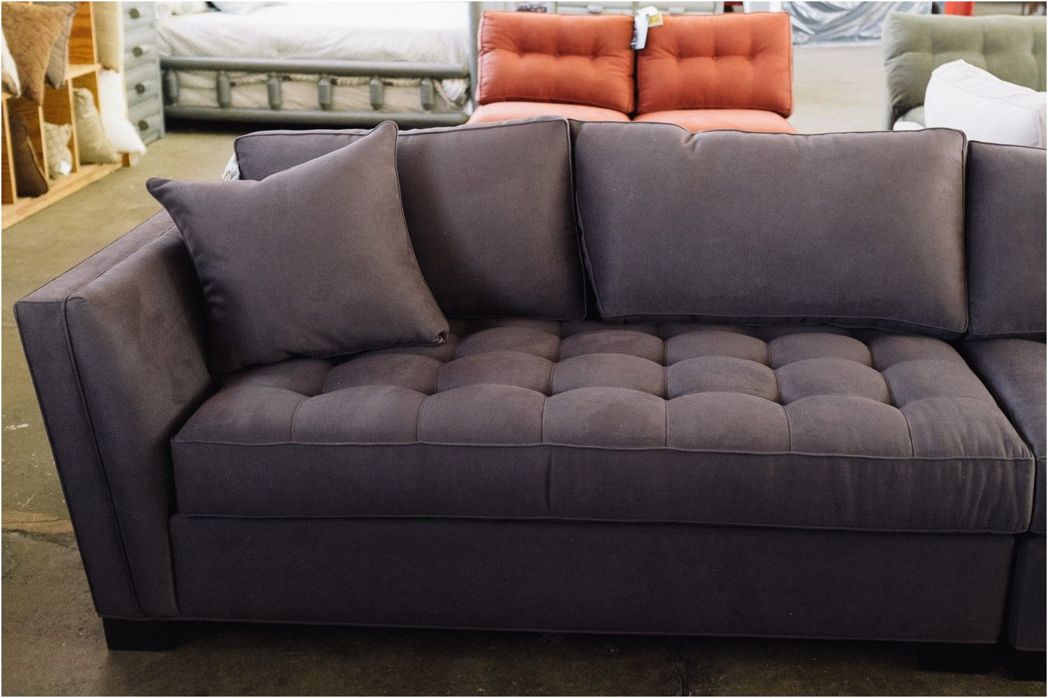 Exotisch Chesterfield Sofa Wildlederoptik Couch Mobel Pinterest