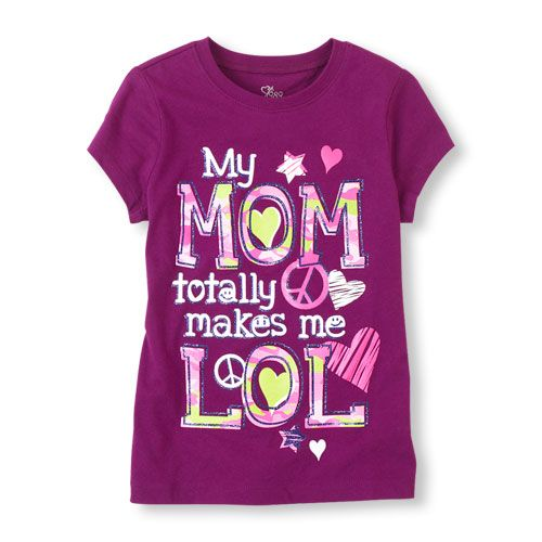 She'll lol when you hand her this playful tee!