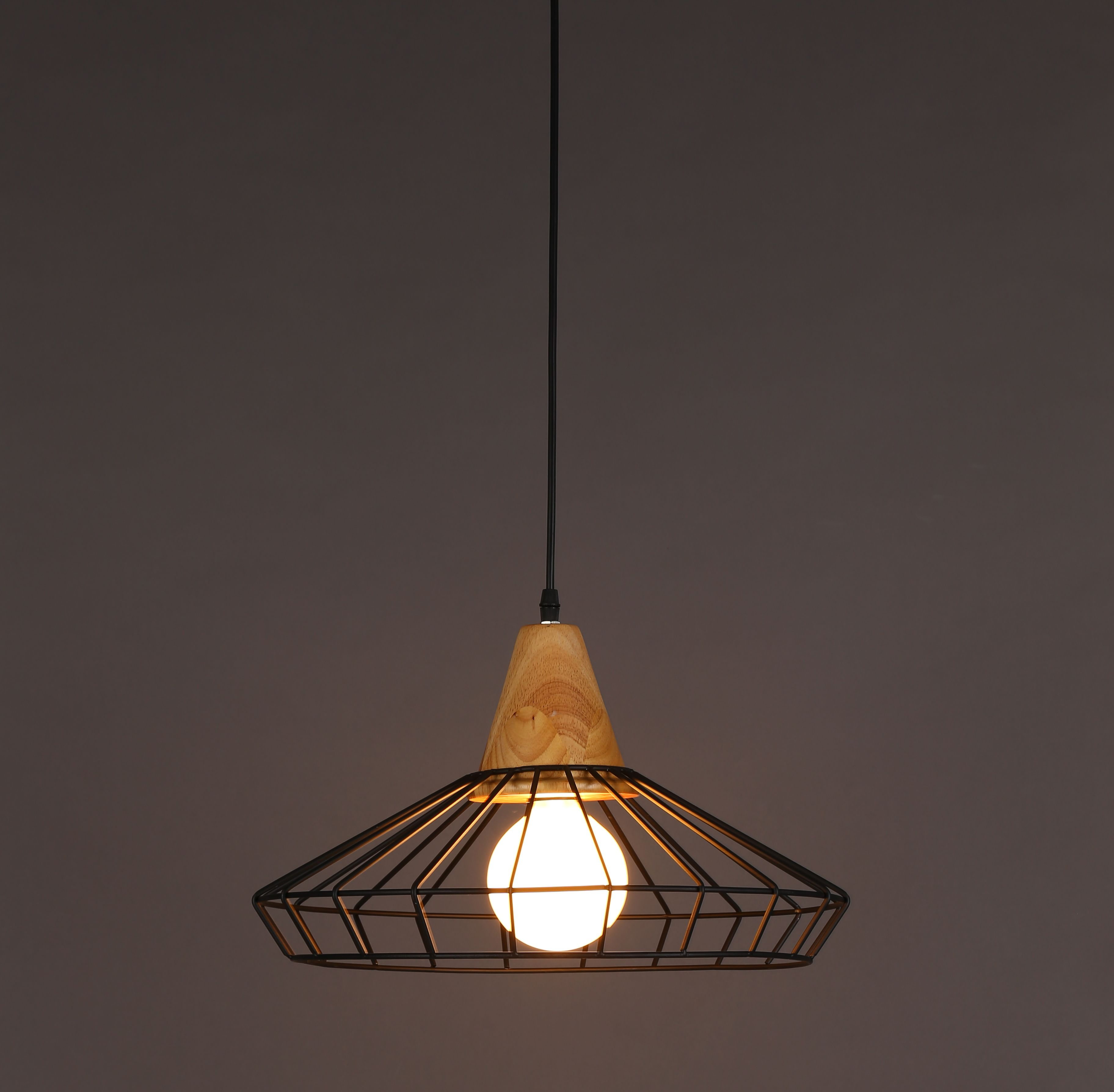 Modern wood metal pendant cage hanging light style a mixture of modern wood metal pendant cage hanging light style a mixture of natural wood and mozeypictures Choice Image