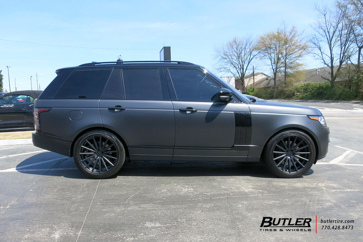 Land Rover Range Rover With 22in Vossen Vfs2 Wheels Exclusively From Butler Tires And Wheels In Atlanta Ga Range Rover Range Rover Supercharged Land Rover