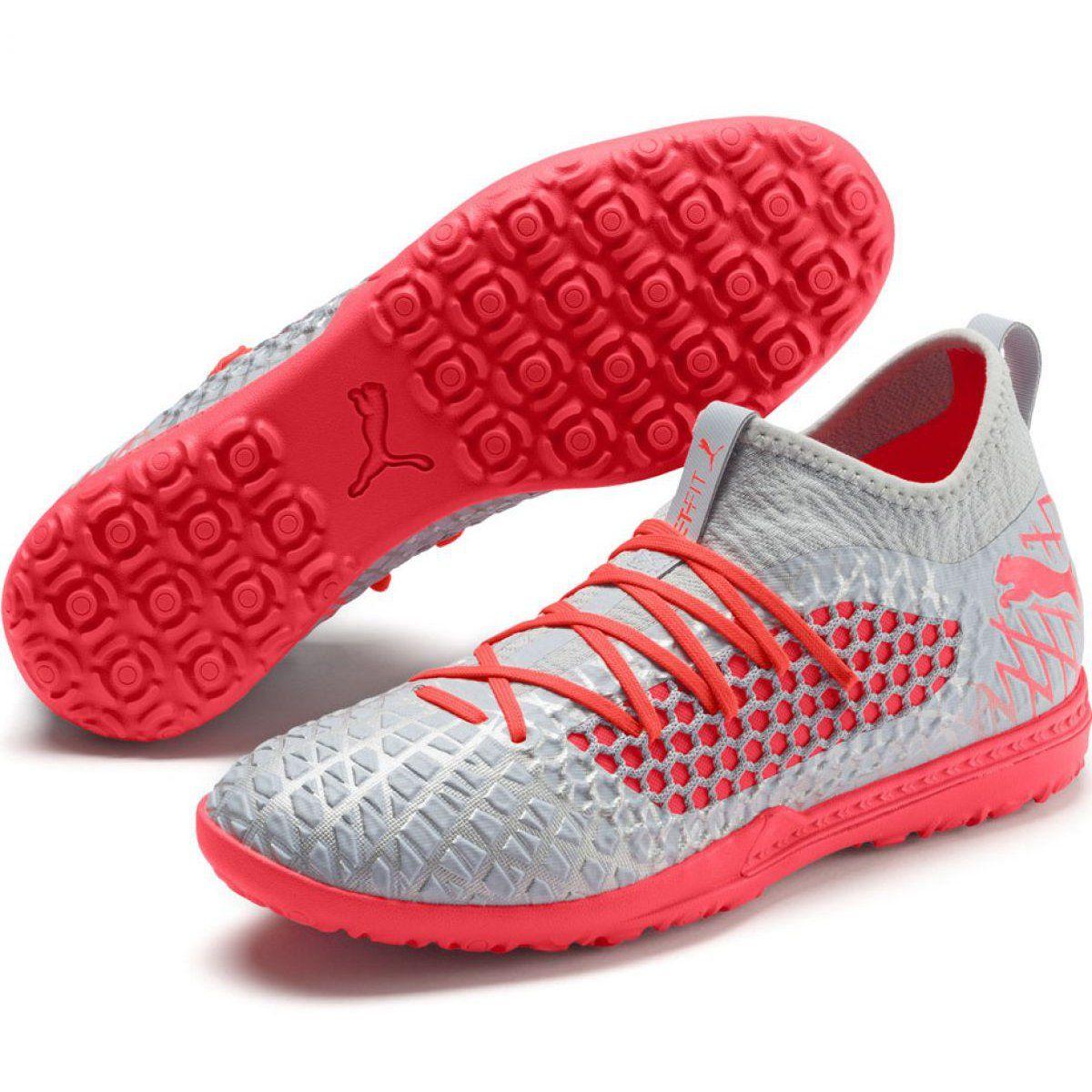 Buty Pilkarskie Puma Future 4 3 Netfit Tt M 105685 01 Szare Wielokolorowe Football Boots Mens Football Boots Puma Mens