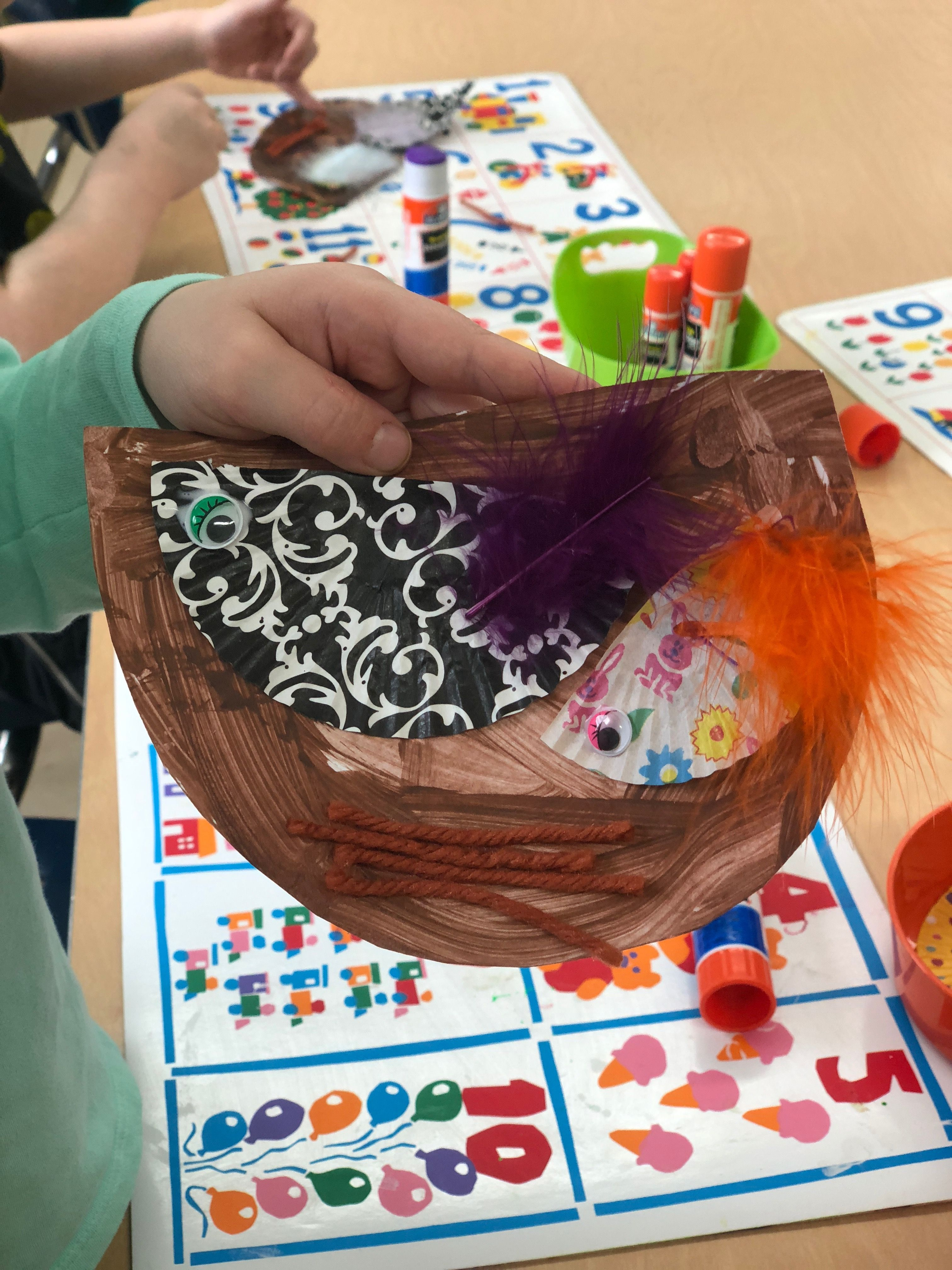 Bird Nest Cupcake Papers Feathers And Eyes And
