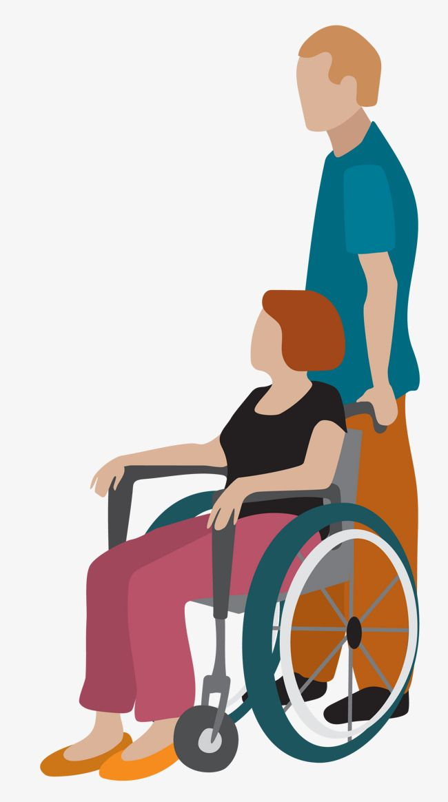 Vector Push Wheelchair Material Png And Vector Vector Illustration People People Illustration Render People