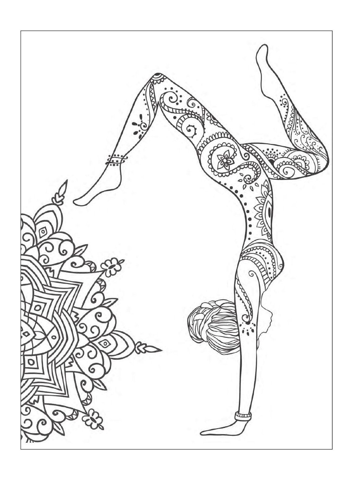 Yoga And Meditation Coloring Book For Adults With Yoga Poses And Mandalas Yoga Art Diy Yogaartdiy This I Mandala Art Therapy Dance Coloring Pages Yoga Art