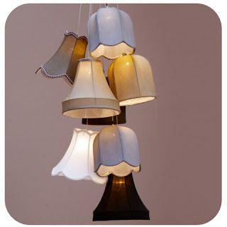 lamp shade chandelier