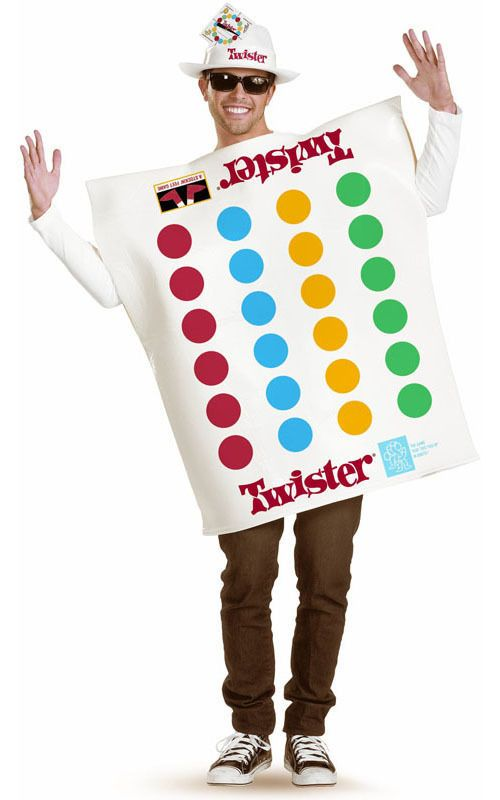 LICENSED ADULT MENS FUN 60s 70s TWISTER BOARD GAME FANCY DRESS HALLOWEEN COSTUME | costume idea ...