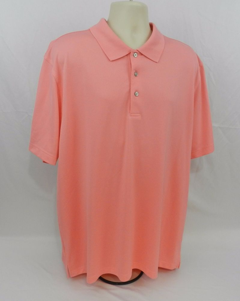 Pro Tour Cool Play Salmon / Pink Golf Polo Short Sleeve Shirt XXL #ProTour #GolfPoloRugby