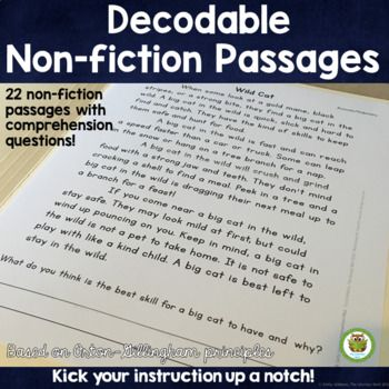 Decodable Reading Passages Non Fiction Controlled Text And