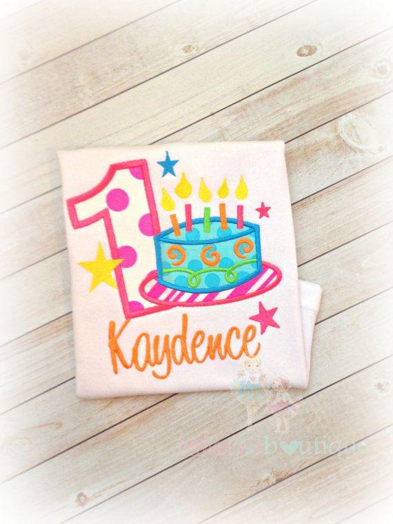 Birthday Cake Shirt Girls Birthday Shirt With Neon Birthday Cake