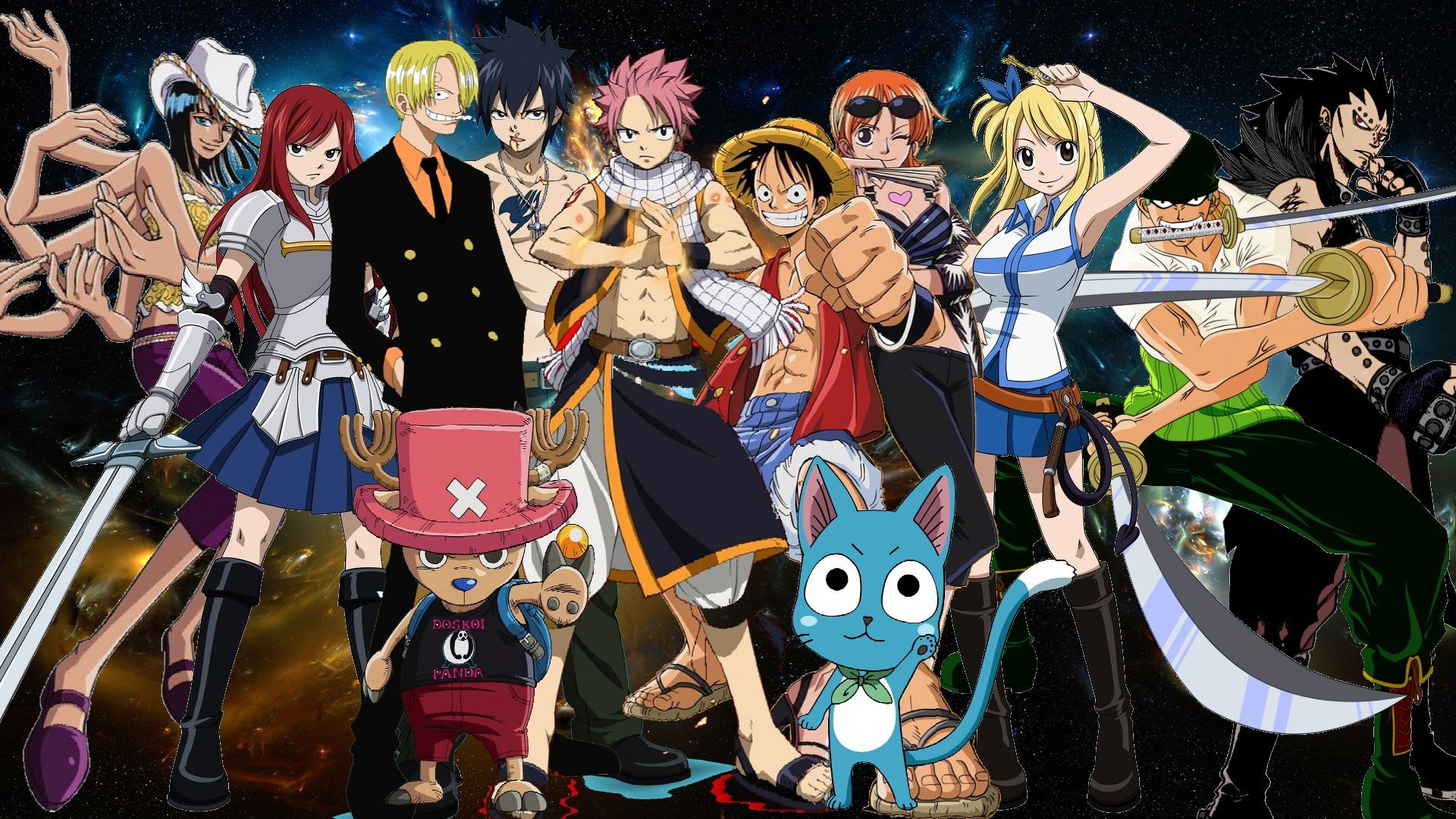 He Wanted To See A Fight Between Natsu From Fairy Tail And Luffy One Piece Description Deviantart I Searched For This On Bing Images