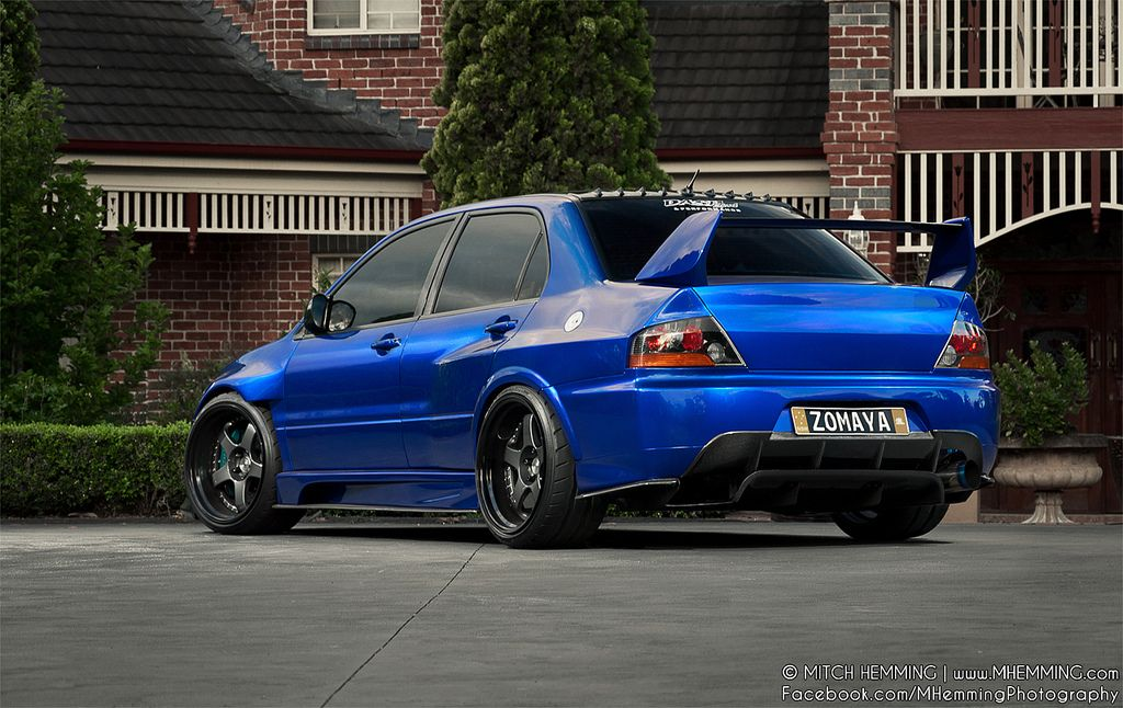 wide body mitsubishi evo 9 on ssr sp1 wheels photos by mitch hemming