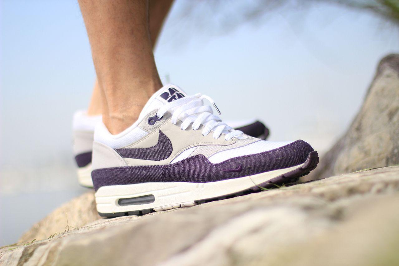 nike x patta air max 1 purple denim