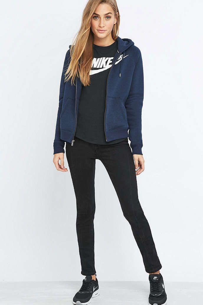 b07afca48 Nike Rally Full Zip Navy Hoodie | My Style | Nike hoodie, Hoodies, Nike