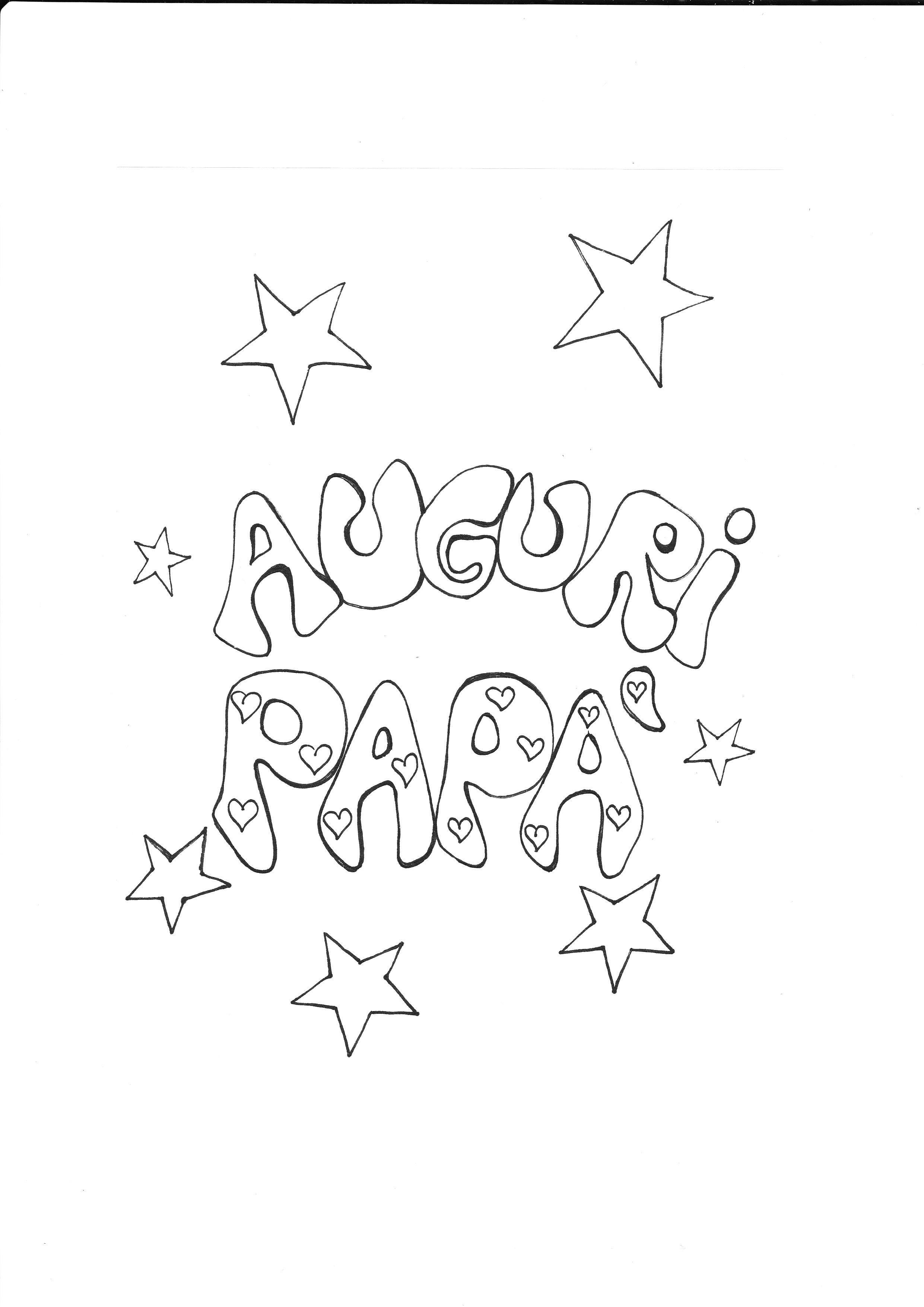 disegni da colorare per festa del papà gratis
