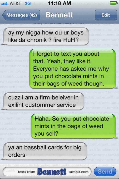 Texts From Bennett A 100 Real Blog About Text Messages A Bloke
