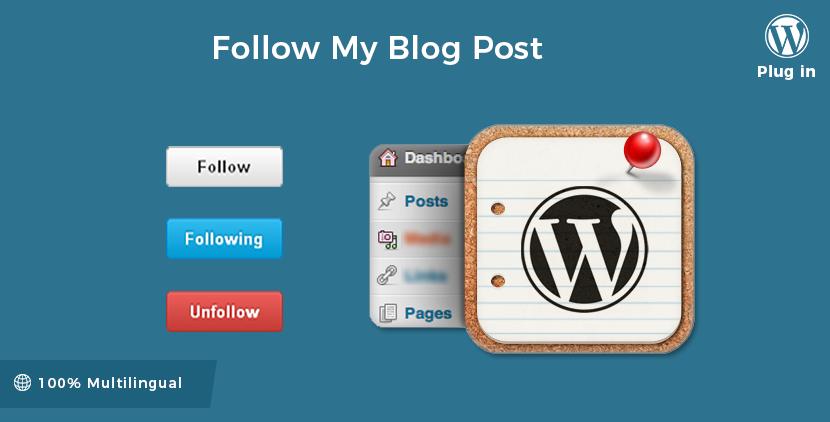 Follow My Blog Post About Me Blog Wordpress Plugins Plugins