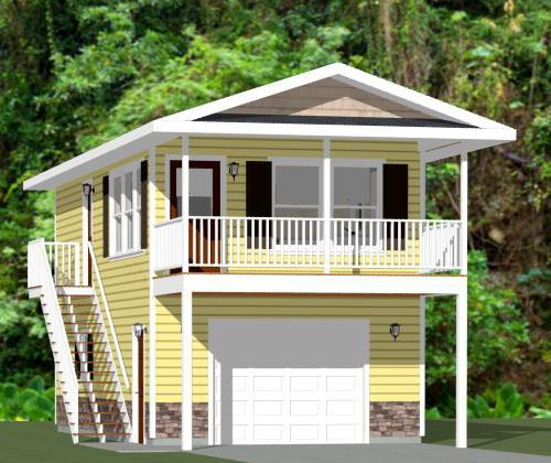 Rv Garage Apartment Plans Pdf Woodworking: 16x32 Tiny House -- #16X32H10