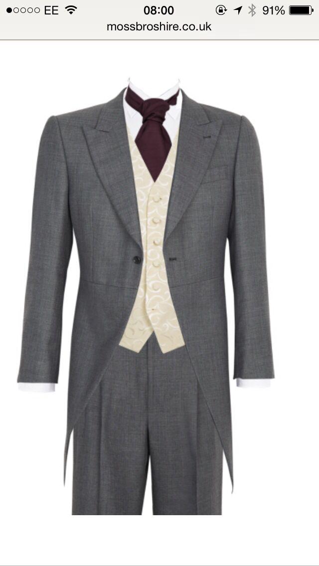 Mens aubergine wedding suits by Moss Bros | Andrews suit | Pinterest ...