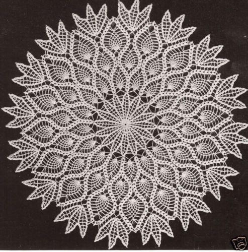 Vintage Crochet Pineapple Doily Centerpiece PATTERN | Crochet ...