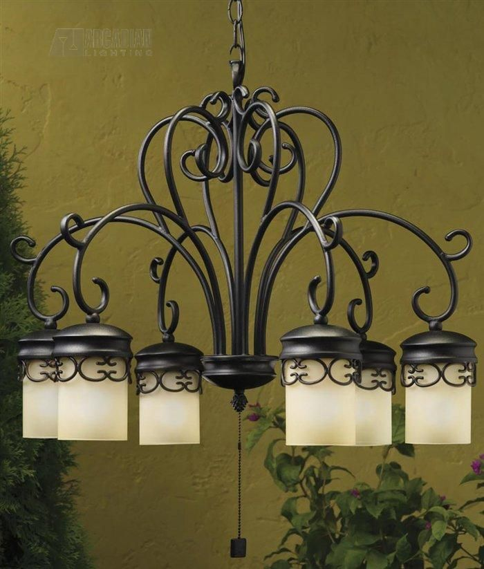 Kichler Lighting 15408bkt Almeria Low Voltage Outdoor Traditional Chandelier Kch 15408 Bkt Outdoor Hanging Lights Outdoor Chandelier Lighting Outdoor Lighting Design