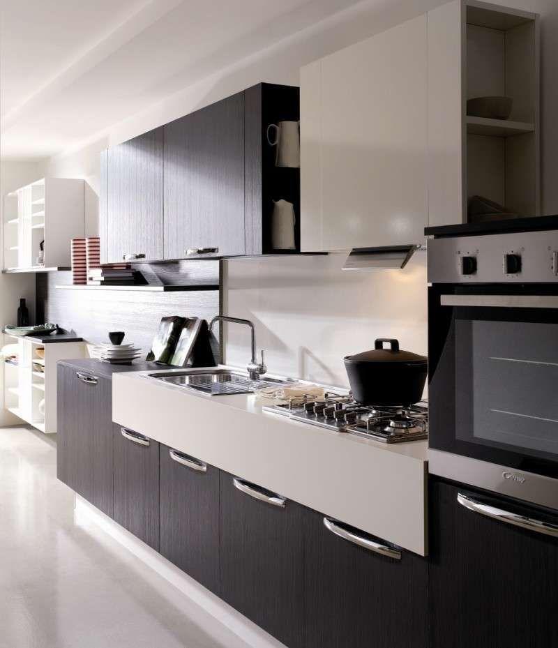 Cucinamodernabiancaeneralineare 800×929  New Home Simple Quality Kitchen Cabinets San Francisco Design Decoration