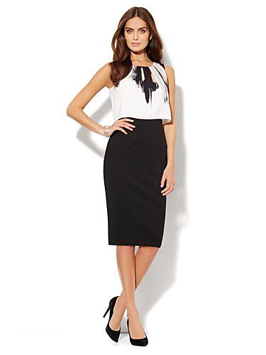 Shop Silky Overlay Midi Sheath Dress Find Your Perfect Size