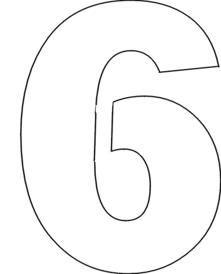 Number Stencils Set No. 1 | Numbers | Free printable letter