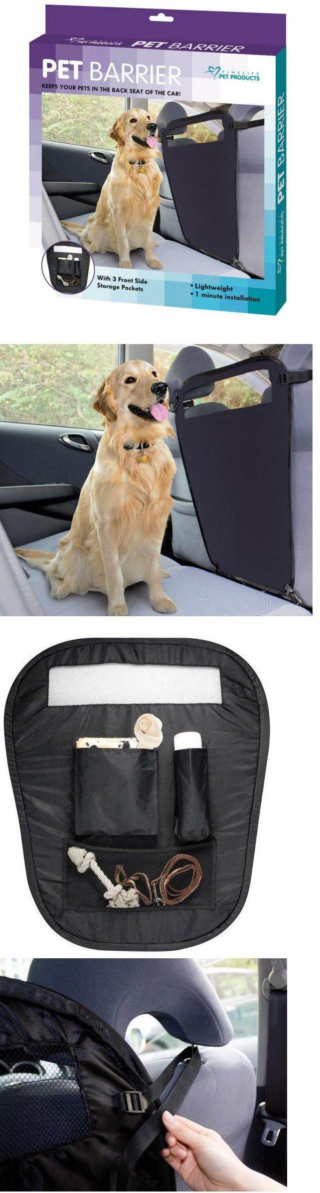 Universal backseat pet barrier seat cover door protectors