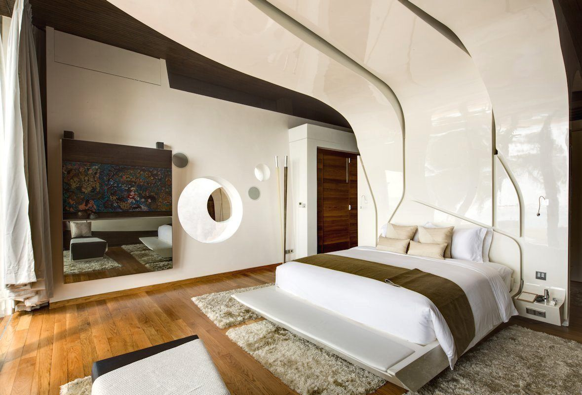 Magnetic floating beds iniala beach house interiors by acero  z and so to bed