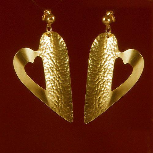 Pendientes de oro bronce