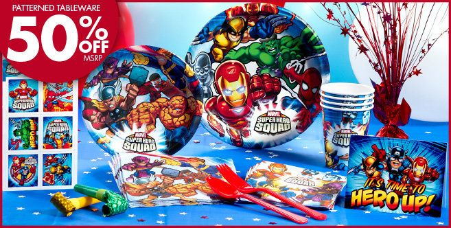 Marvel Super Hero Party Supplies - Super Hero Birthday - Party ...