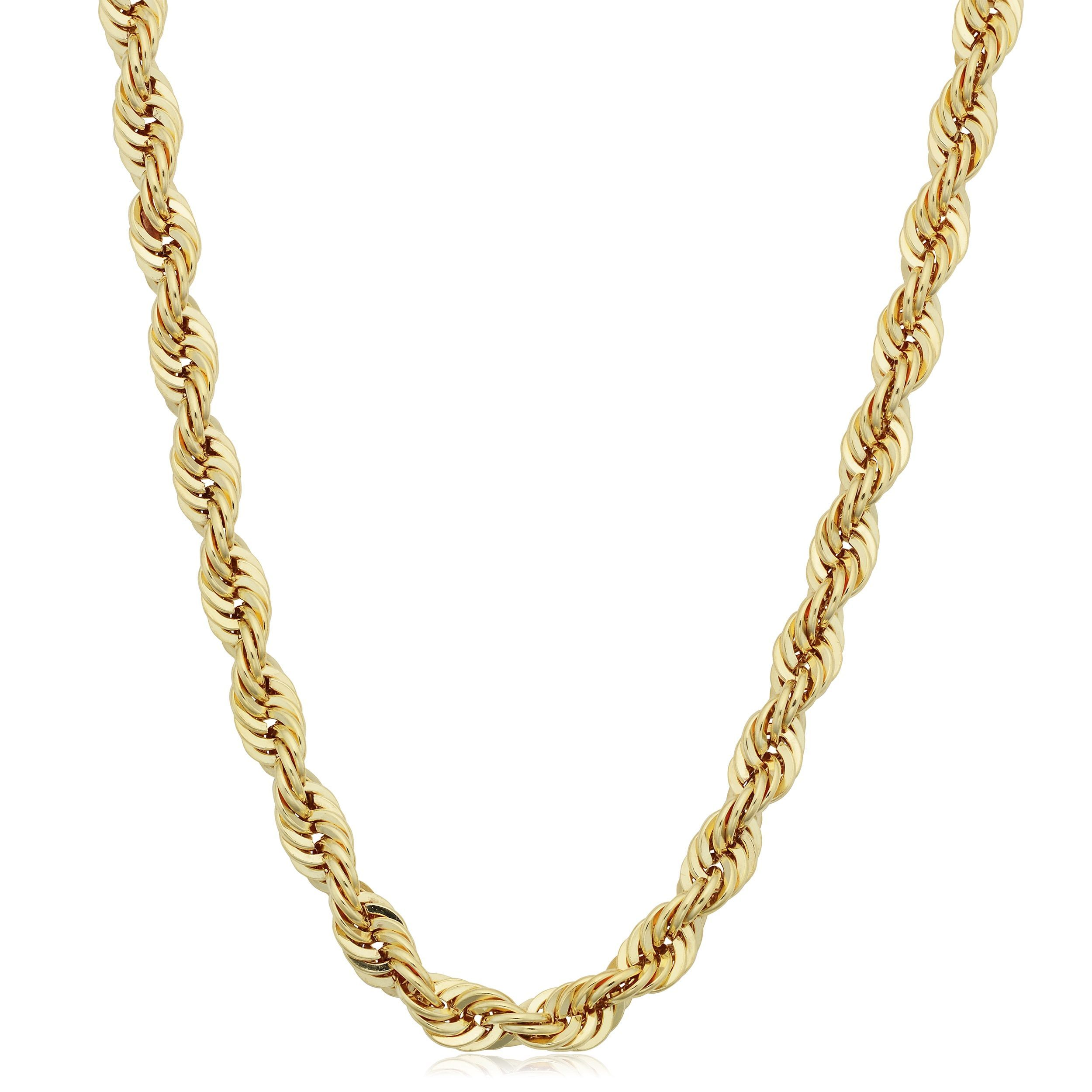 gold inches link in yellow and necklace mens chains railroad
