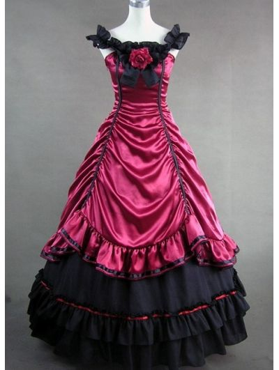 masquerade ball gowns short | Home > Victorian > Red and ...