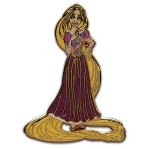 Tangled Disney Princess Pin Collection Disney Parks Rapunzel Glitter Trading Pin