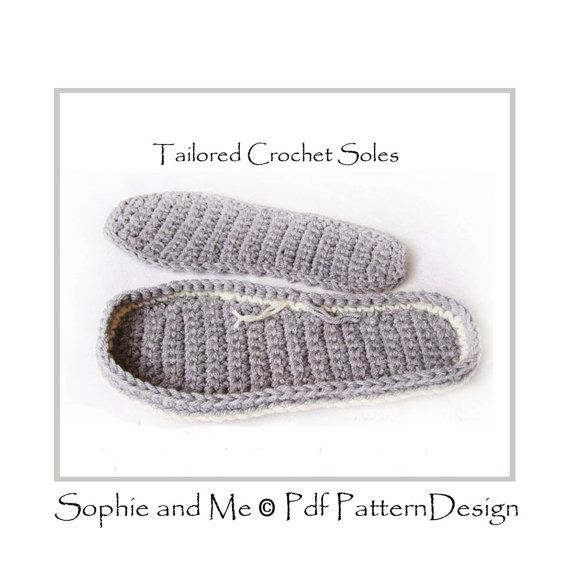 CROCHET SOLES - Any Size Customized - Instant Download PDF | Schuhe