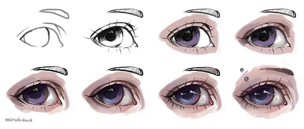 Resultado de imagen para ojos realistas paint tool sai   dibujo ...