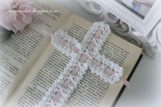 Lacy Crochet: Crochet Cross Bookmark, Free Vintage Pattern | free ...