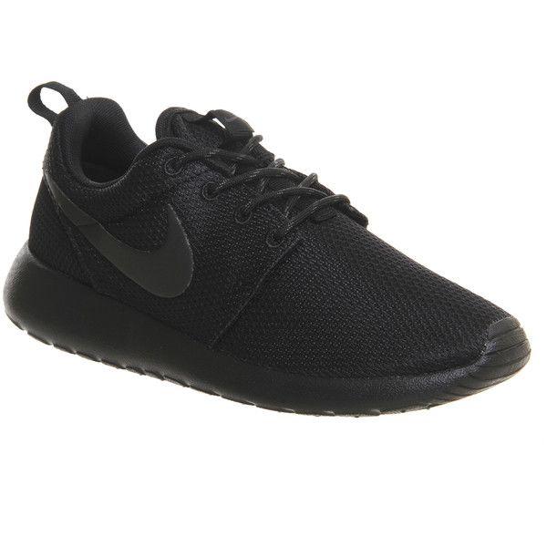 Black athletic shoes, Nike roshe run