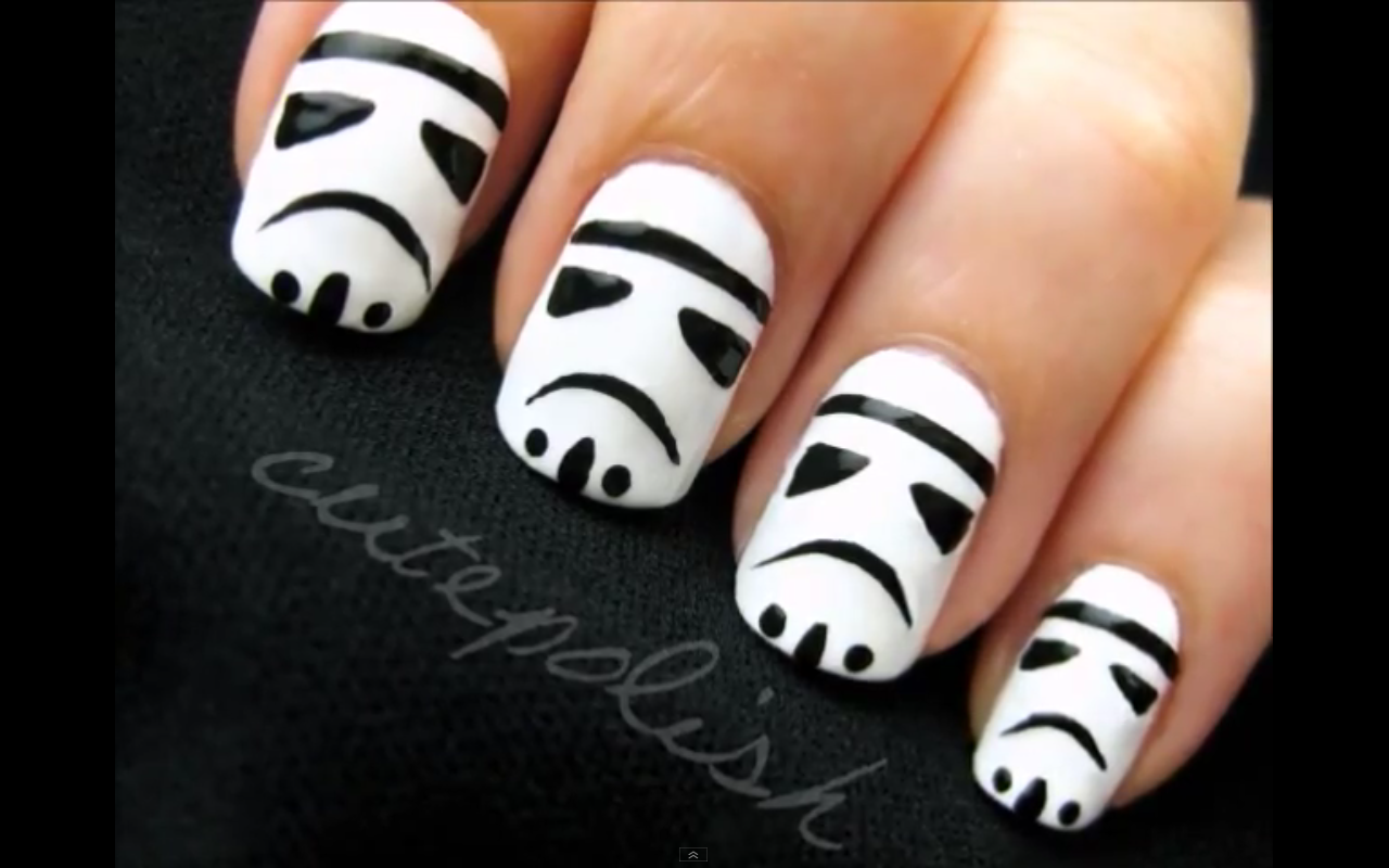 stormtrooper nails....must do for FanExpo! | Just my Style ...