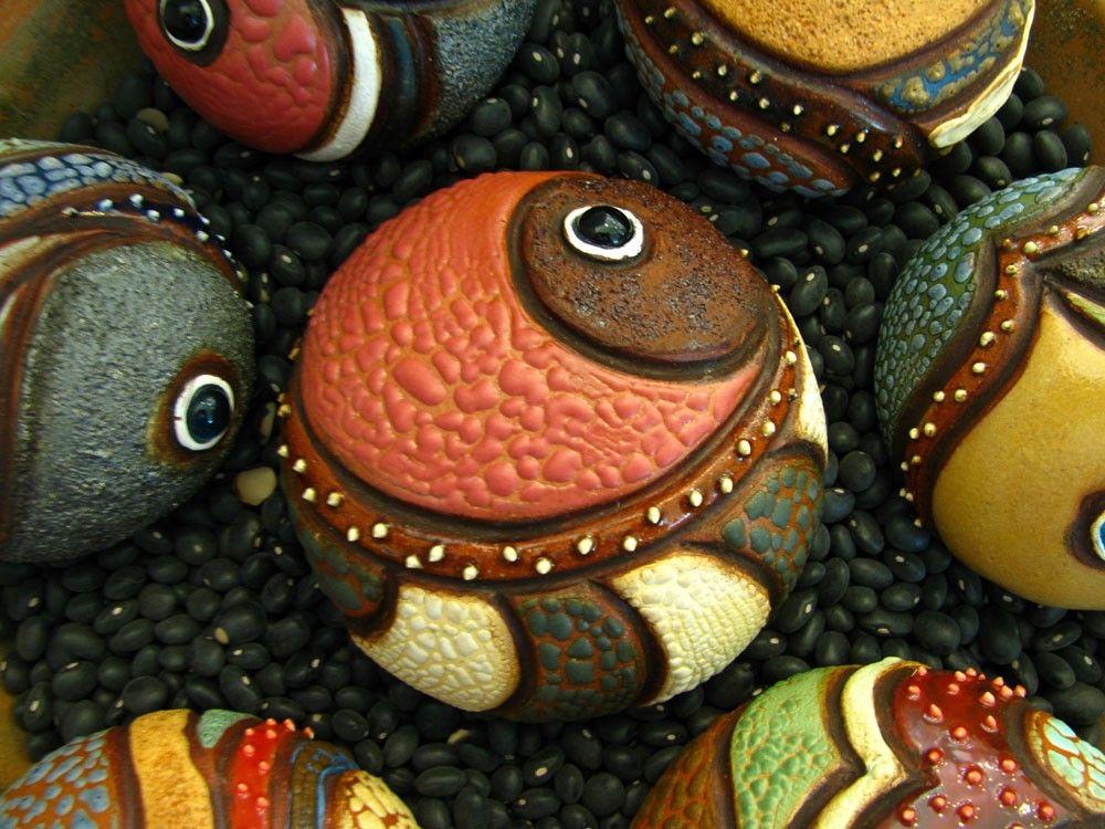 Mini Ceramic Sculpture - Abstract Sea Urchin (09-L-009)