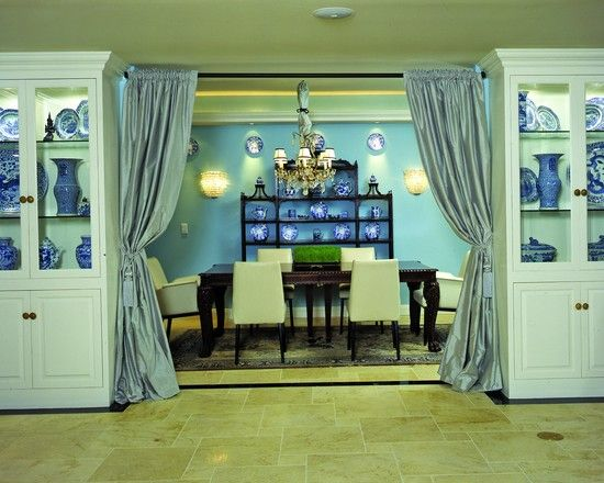 dining room curtain ideas. like the idea but not the color extra