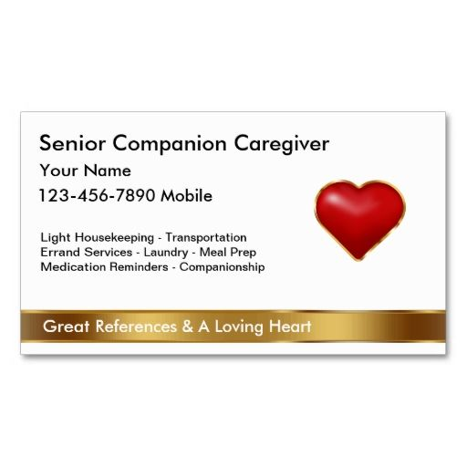 Classy Caregiver Business Cards Zazzle Com Senior Caregiver Caregiver Custom Business Cards