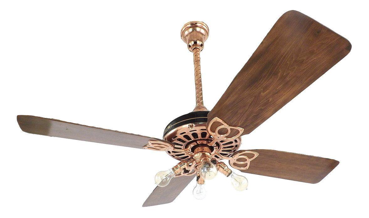 1920 S 52 Fort Wayne Electric Ceiling Fan Copper Restored Ceiling Fan Antique Fans Fan