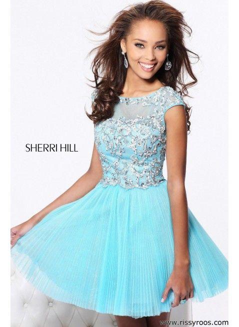 Sherri Hill 21032 Light Blue/Silver Dress