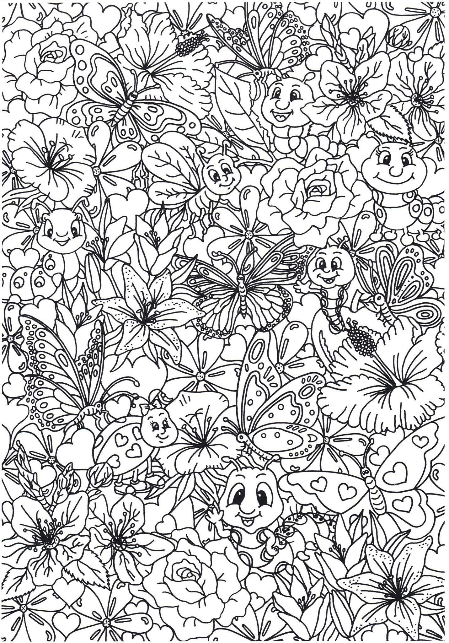 Idee van Melissa D. op Insects | Kleurplaten, Dieren ...